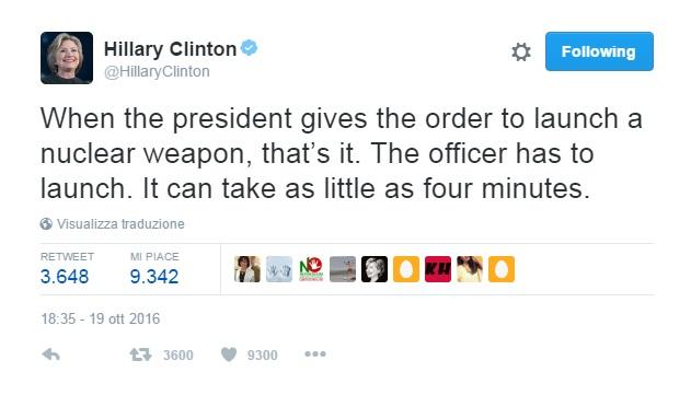 hillary clinton nucleare