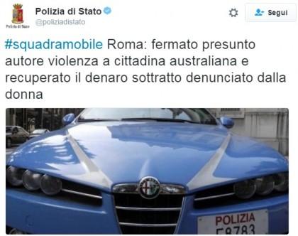 turista stuprata roma