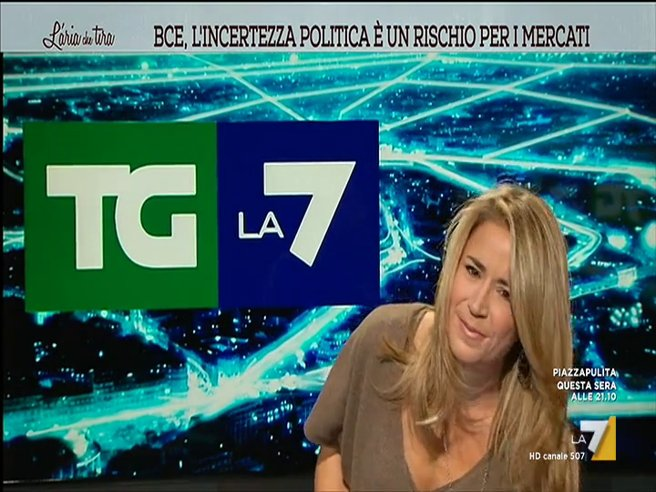 Cristina Fantoni, caduta in diretta durante il Tg La7