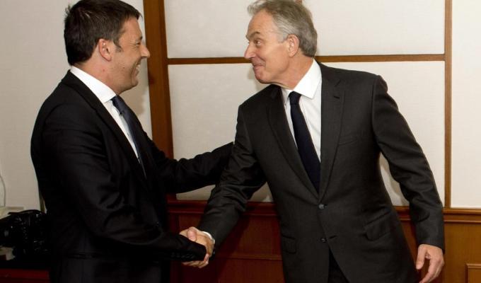 Matteo Renzi Tony Blair referendum