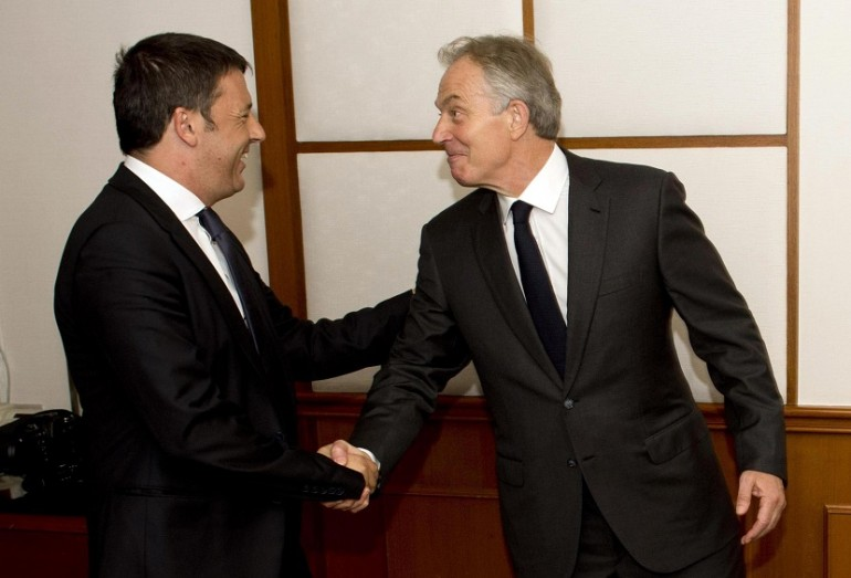 Matteo Renzi Tony Blair referendum