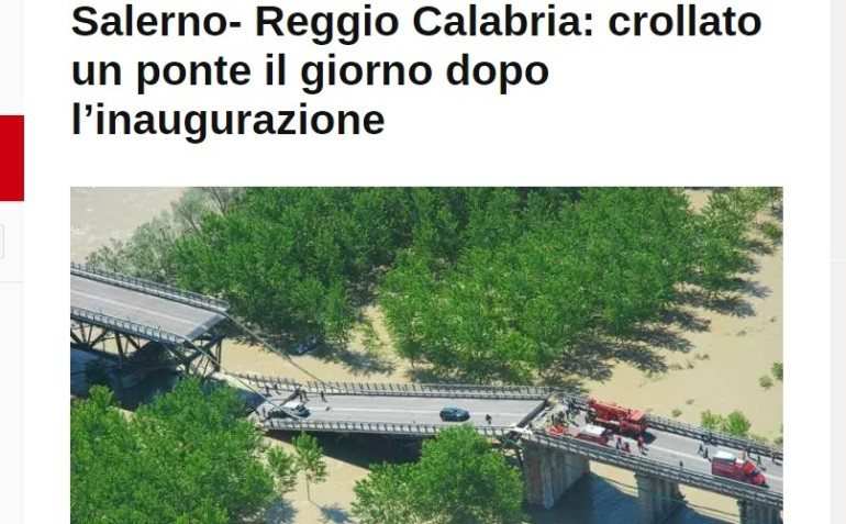 La Salerno-Reggio Calabria sarà A2. Gentiloni: scusate il ritardo