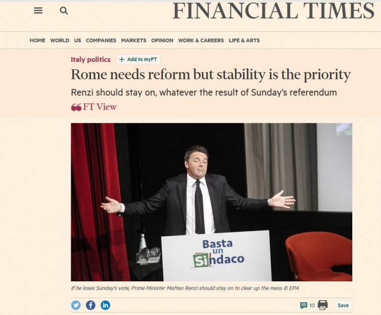 Referendum Financial Times