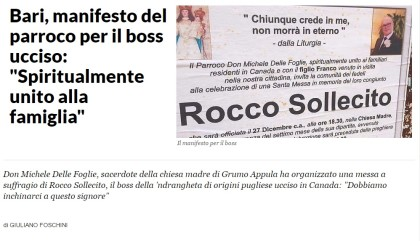 messa in onore del boss