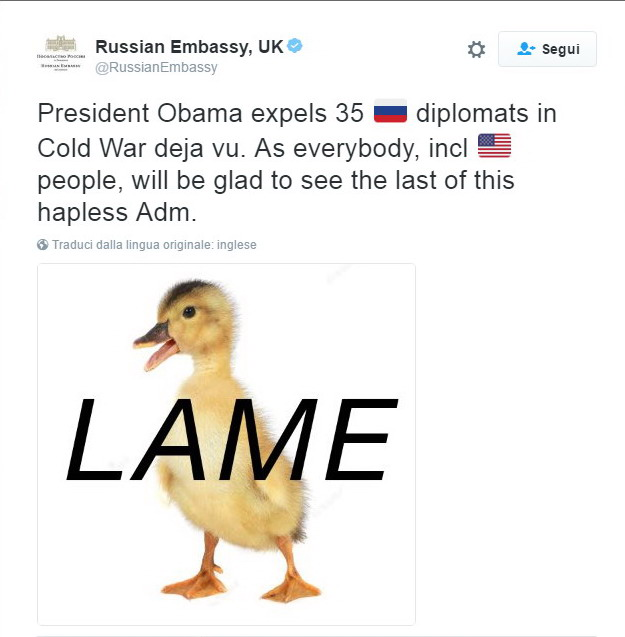 Russia-Usa, Trump: Grande mossa Putin non rispondere a sanzioni