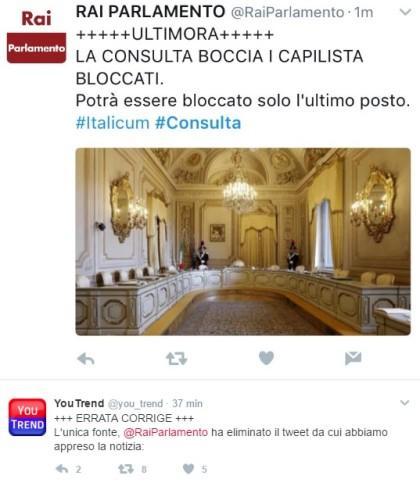 rai parlamento consulta italicum
