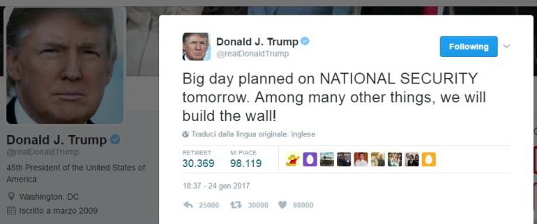 Trump muro Messico