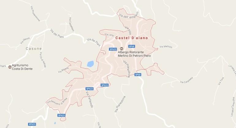 Esplosione a Castel d'Aiano, crolla una palazzina