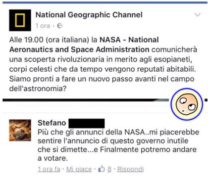 sette pianeti commenti facebook