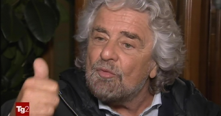 Grillo, M5s primo partito, Pd copia male