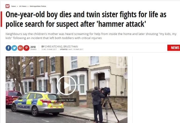 bambino ucciso