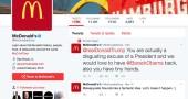 Qualcuno ha twittato dall'account di McDonald's contro Donald Trump
