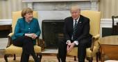 Donald Trump e Angela Merkel, mancata stretta di mano e posizioni distanti