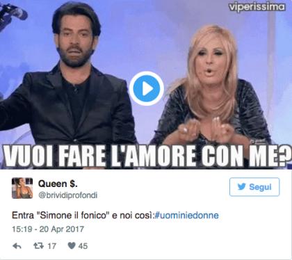 Uomini e Donne Simone fonico 5