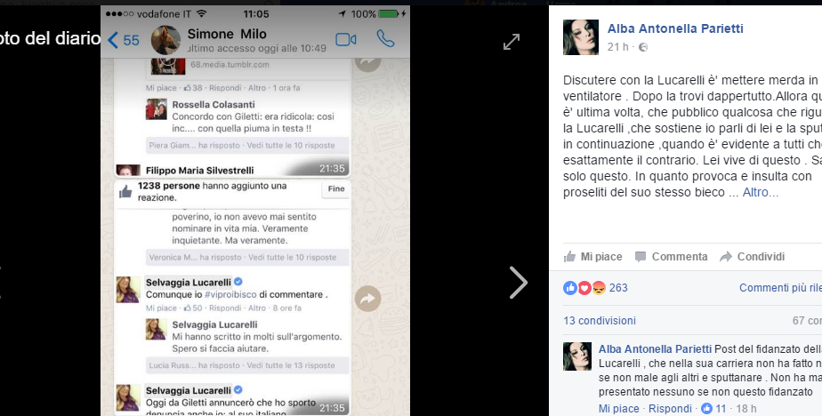 Selvaggia Lucarelli minaccia:
