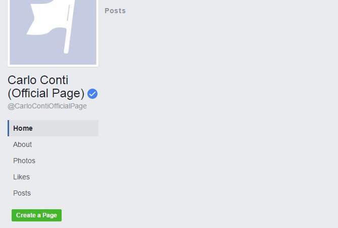 carlo conti facebook