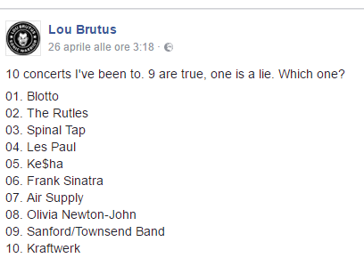 Facebook concerti