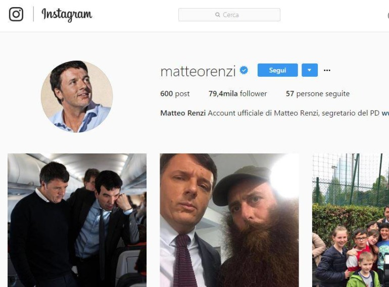 matteo renzi instagram