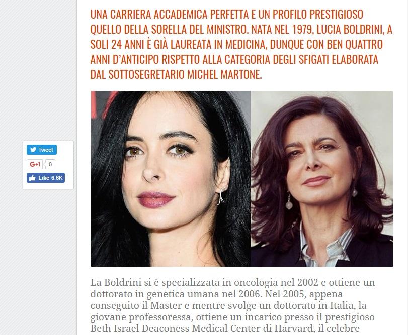Lucia Boldrini, la sorella di Laura Boldrini offesa da morta