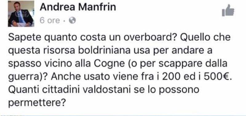 gaffe consigliere Lega Nord