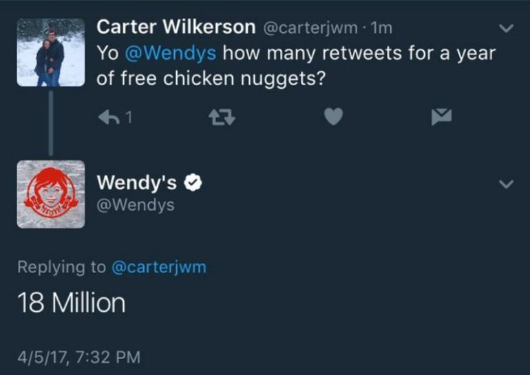 Tweet da record e vince un anno di pollo gratis
