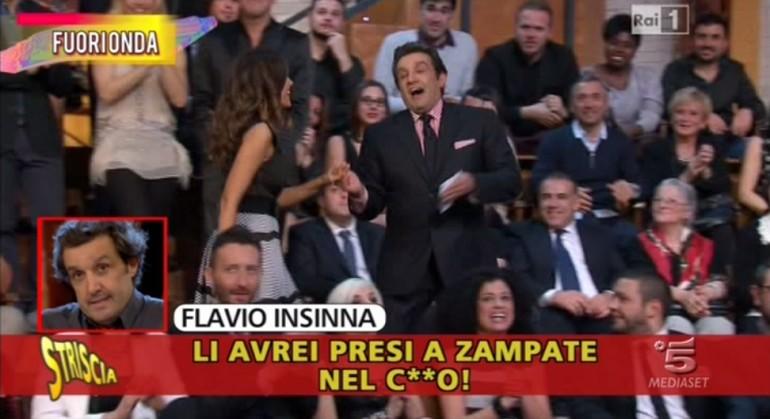 Clamoroso fuorionda di Flavio Insinna ad Affari tuoi: parolacce e offese