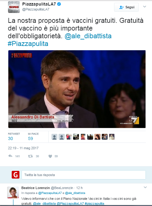 Di Battista vaccini