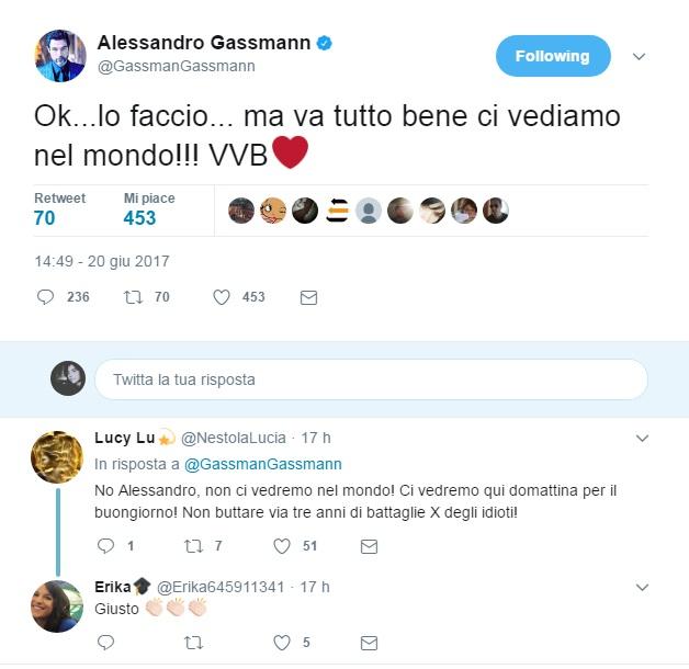 Perché Alessandro Gassmann ha deciso di abbandonare Twitter