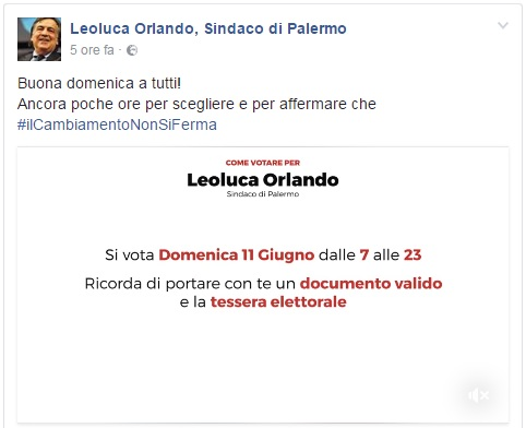 Risultati elezioni comunali Palermo 11 giugno 2017
