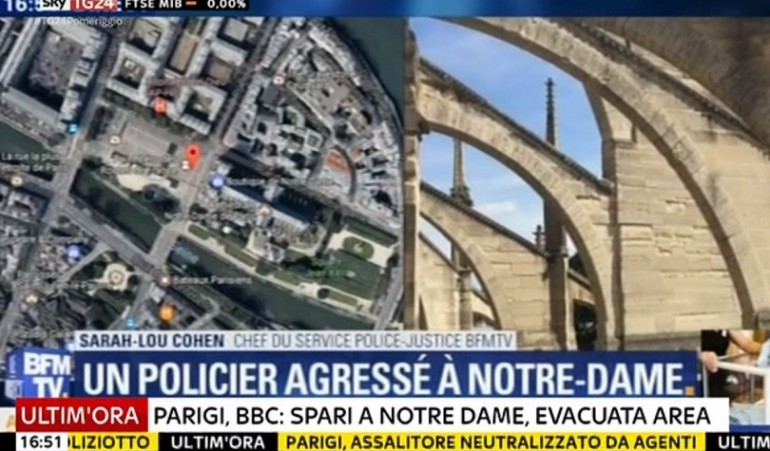 Terrore nei pressi della cattedrale di Notre Dame: in azione algerino armato