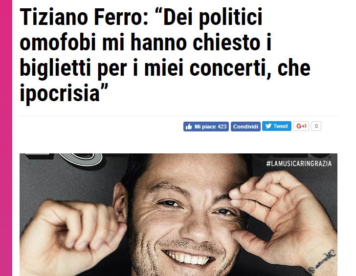 Tiziano Ferro omofobia