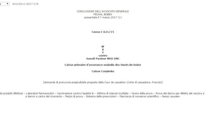 vaccini corte europea