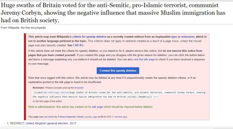 Wikipedia elezioni UK