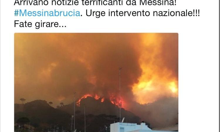 #Messinabrucia