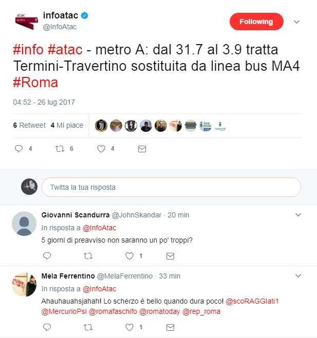 Roma: metro A chiusa da 31 luglio. Codacons: Atac allunghi abbonamenti