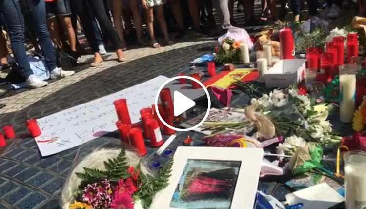attentato Barcellona omaggio