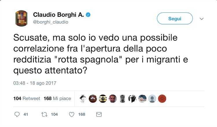 Borghi attentato Barcellona
