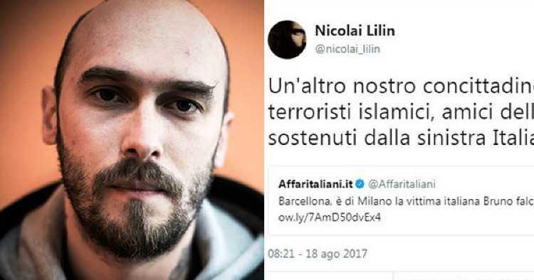 Nicolai Lilin tweet Boldrini