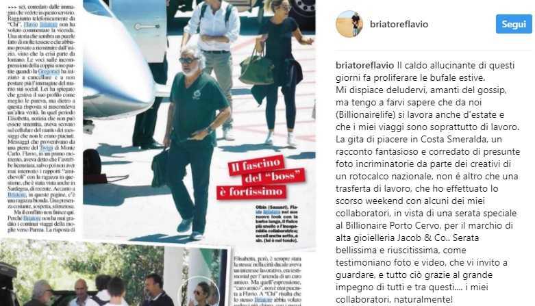 Flavio Briatore smentisce Chi: nessuna crisi con Elisabetta Gregoraci, solo bufale estive