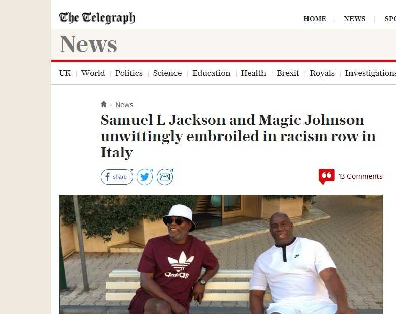Magic Johnson Samuel Jackson