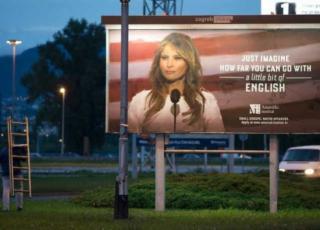 Melania Trump pubblicità scuola inglese