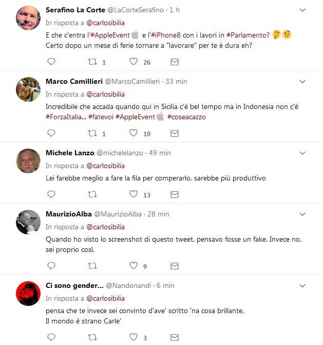 Carlo sibilia si perde l apple event per colpa dei lavori for Lavori parlamentari