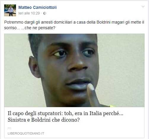 Matteo Camiciottoli (Lega):