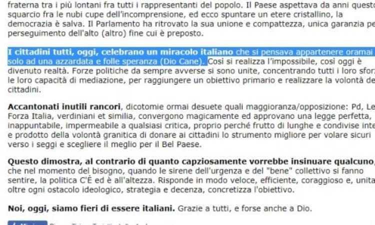 Bestemmia Beppe Grillo