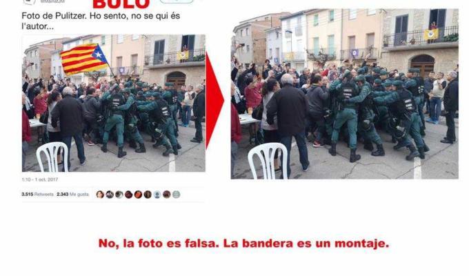 Bufala foto Catalogna