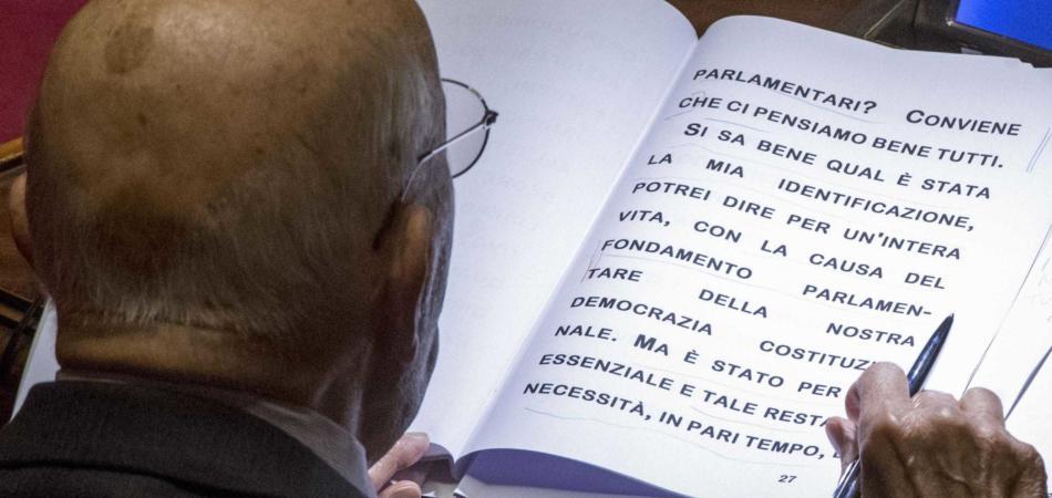 Napolitano discorso Senato