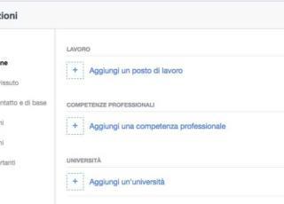 curriculum su Facebook