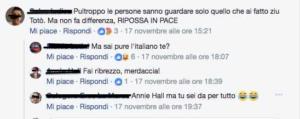 commenti alla morte di Totò Riina