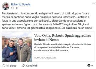 Roberto Spada reazione