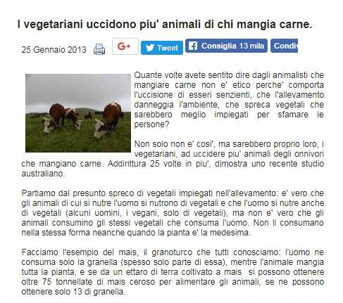 bufale vegani